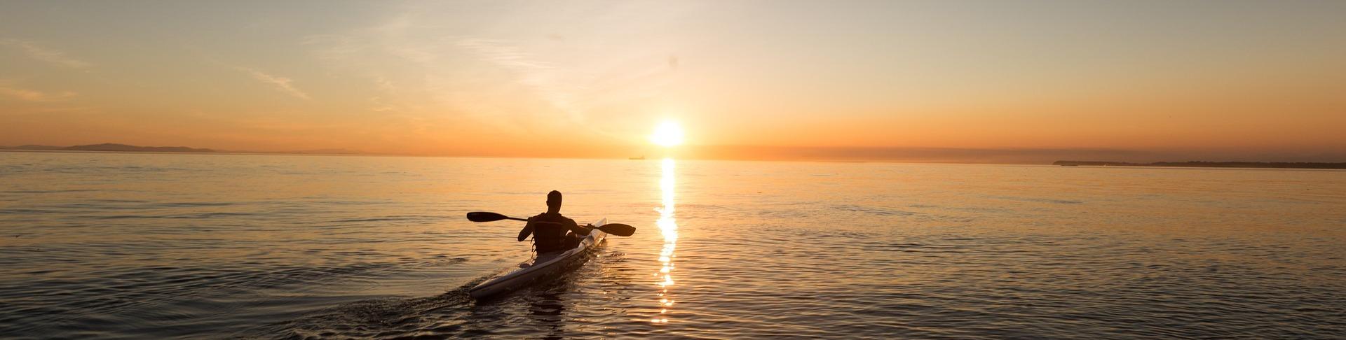 Kayak into sunset BioSuperfood