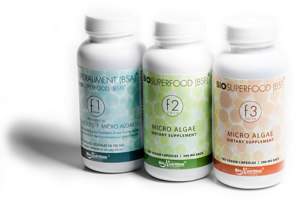 BioSuperfood bio-algae concentrates come in three formulas to accommodate your individual state of health.